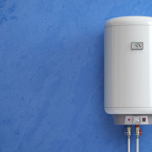 electric boiler water heater on the blue wall